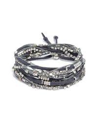 Serefina - Gray Convertible Wrap Bracelet - Lyst