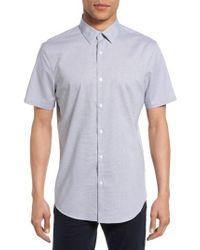 Calibrate | Gray No-iron Dot Jacquard Woven Shirt for Men | Lyst