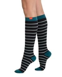 VIM & VIGR - Black Nautical Stripe Graduated Compression Trouser Socks - Lyst