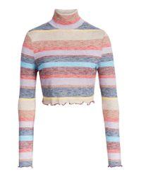 Love, Fire - Multicolor Stripe Mock Neck Top - Lyst