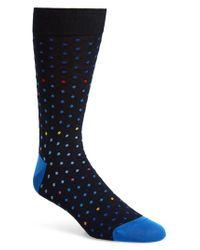 Bugatchi - Blue Mercerized Dot Socks for Men - Lyst