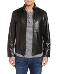 Cole Haan | Black Lamb Leather Jacket for Men | Lyst