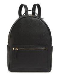 MALI AND LILI Black Mali + Lili Madison Vegan Leather Backpack