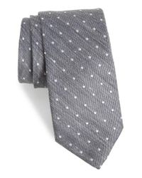 Bonobos | Gray Dot Silk & Linen Tie for Men | Lyst