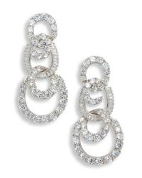 Nina - Metallic 3-tier Swirl Drop Earrings - Lyst