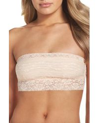 Free People | Black Scalloped Lace Bandeau | Lyst