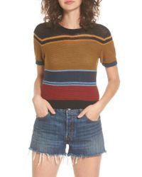 RVCA   Multicolor Brightside Stripe Knit Sweater   Lyst