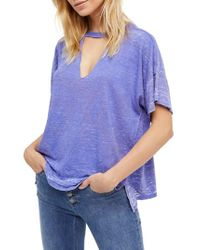 Free People | Purple Jordan Burnout Tee | Lyst