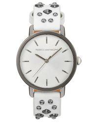 Rebecca Minkoff - Metallic Bffl Studded Leather Strap Watch - Lyst
