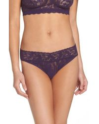 Hanky Panky | Purple Regular Rise Lace Thong | Lyst