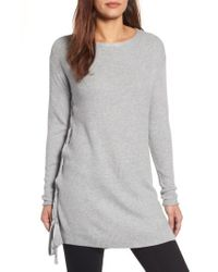 Caslon | Gray Caslon Side Tie Seed Stitch Tunic Top | Lyst