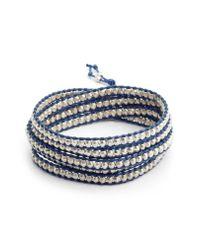 Chan Luu - Blue Beaded Multistrand Bracelet - Lyst