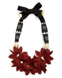 Lizzie Fortunato - Red Samburo Floral Collar Necklace - Lyst