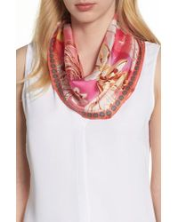 Echo - Pink Seaside Floral Diamond Silk Scarf - Lyst