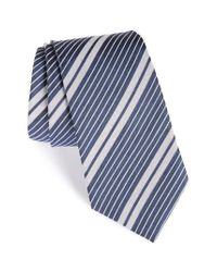 Burberry | Blue Clinton Stripe Silk Tie for Men | Lyst