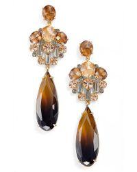 Kate Spade - Metallic Light Things Up Crystal Drop Earrings - Lyst