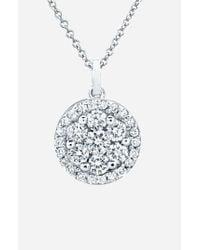 Bony Levy - White Flower Button Diamond Pendant Necklace (nordstrom Exclusive) - Lyst