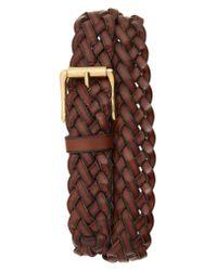 Frye - Brown Woven Leather Belt for Men - Lyst