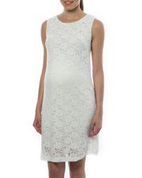 Pietro Brunelli | White 'Danubio' Lace Maternity Shift Dress | Lyst
