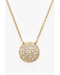 Dana Rebecca | Yellow 'lauren Joy' Diamond Disc Pendant Necklace | Lyst