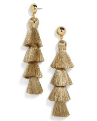 BaubleBar - Metallic Gabriela Fringe Tassel Earrings - Lyst
