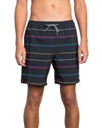 RVCA - Black Middle Elastic Swim Trunks for Men - Lyst