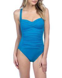 La Blanca | Blue 'sweetheart' One-piece Swimsuit | Lyst