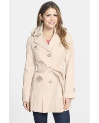 Via Spiga | Natural 'scarpa' Single Breasted Hooded Trench | Lyst