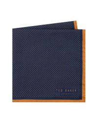 Ted Baker - Orange Triangle Pocket Square for Men - Lyst