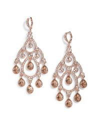 Givenchy - Metallic Open Crystal Chandelier Earrings - Lyst