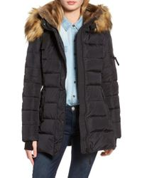 S13/nyc - Black S13/nyc Faux Fur Hooded Coat - Lyst