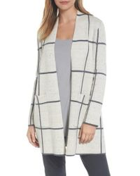 Eileen Fisher | Multicolor Long Check Knit Jacket | Lyst
