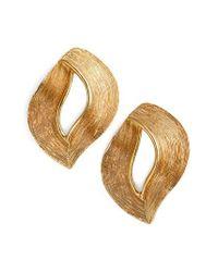 Oscar de la Renta - Metallic Twisted Ribbon Earrings - Lyst