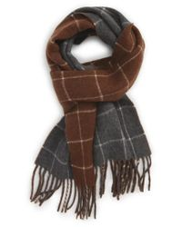 Polo Ralph Lauren | Brown Reversible Wool Blend Plaid Scarf for Men | Lyst