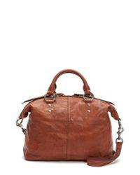 Frye - Brown Veronica Sheepskin Leather Satchel - Lyst