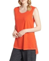 Eileen Fisher - Red Organic Cotton Tunic - Lyst
