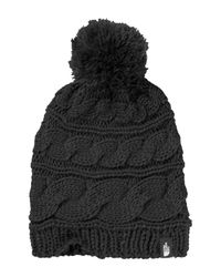 The North Face - Black Triple Cable Pom Beanie - Lyst