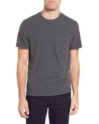 James Perse - Gray Sueded Jersey Pocket T-shirt for Men - Lyst