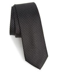 Calibrate   Black Nordstrom Men's Shop Hammond Neat Silk Tie for Men   Lyst