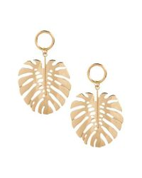 TOPSHOP - Metallic Leaf Drop Earrings - Lyst