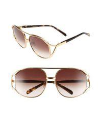 Wildfox - Metallic 'dynasty' 59mm Retro Sunglasses - Lyst