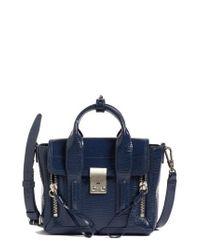 3.1 Phillip Lim | Blue Pashli Leather Satchel Shoulder Bag | Lyst