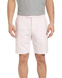 Peter Millar - Pink Crown Cool Delave Flat Front Shorts for Men - Lyst