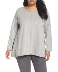 Caslon | Gray Caslon High/low Sweatshirt | Lyst