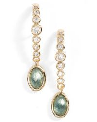 Melinda Maria - Metallic Extended Drop Earrings - Lyst