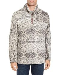 True Grit - Gray Print Frosty Tipped Quarter Zip Pullover for Men - Lyst