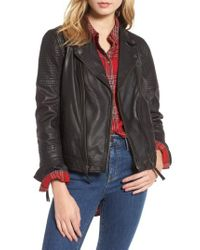 Treasure & Bond - Black Quilted Leather Moto Jacket - Lyst