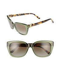 Tory Burch | 56mm Cat Eye Sunglasses - Dark Green | Lyst