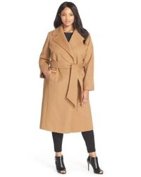 George Simonton - Natural Couture 'hollywood' Long Wrap Coat - Lyst