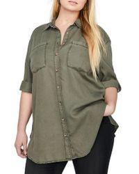 Addition Elle Green Tunic Shirt